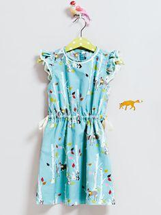 Drawstring Dress with Ruffled Sleeves