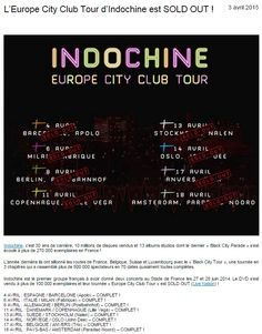 WEB // Just Music - 3 Avril 2015  http://www.justmusic.fr/actualites/leurope-city-club-tour-dindochine-est-sold-out-146531