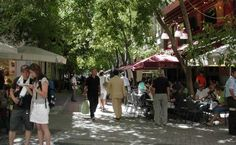 A pedestrian street in downtown Athens. The Neighbourhood, Alternative, Street View, Community, Urban, American, Athens, Pedestrian, Trail
