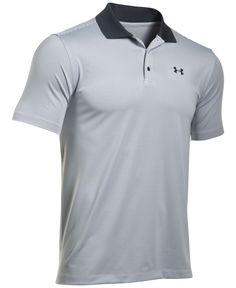 Get a handsome look and performance fit with this polo shirt from Under Armour, featuring anti-pill fabric that keeps looking great and moisture-wicking technology that keeps you dry. | Polyester/elas