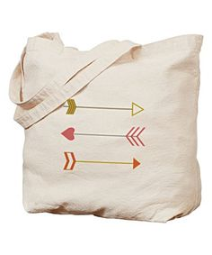 Another great find on #zulily! Fuchsia Arrow Tote #zulilyfinds