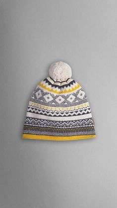 Striped Cable Knit Beanie | Burberry