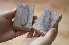 feather stamps by childerhouse, via Flickr