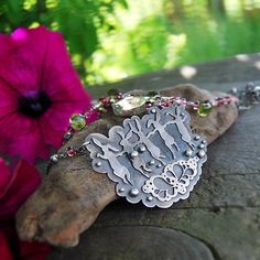 Etsy listing at https://www.etsy.com/listing/194424493/the-summer-dance-necklace-silver  @loreleieurto , wouldnt Nancy love this?