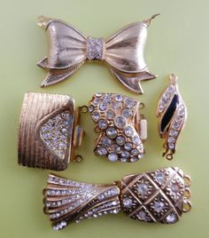 Elegant Mix Clasps for jewelry  vintage 1960 by RAKcreations