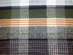 detail: January 2013 rug | mostly Iowa thrift store wool coats + wool scraps from friends | Swedish rosepath draft: Marguerite Davison