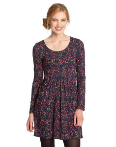 Joules Womens Empire Line Tunic, Navy Seed Ditsy. In a feminine shape, this tunic will flatter all season long. Crafted in soft, drapey fabric that will hang beautifully, it feels as good as it looks. A perfect choice for both work and play.