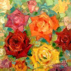 Mon Amour La Rose - original oil painting by EMONA