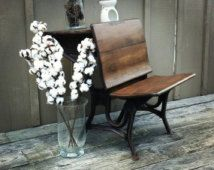 Restored Antique School Desk American Seating Company 1800's