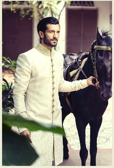 """Shahzad Noor for Ziggi Menswear "" Sherwani Groom, Mens Sherwani, Wedding Sherwani, Wedding Outfits For Groom, Wedding Men, Wedding Suits, Farm Wedding, Wedding Couples, Wedding Ideas"