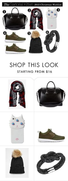 """""""The Sartorial Kitten: 2015 Christmas Wishlist"""" by kat-thebat ❤ liked on Polyvore featuring Express, Givenchy, Valfré, NIKE, Pieces and Swarovski"""