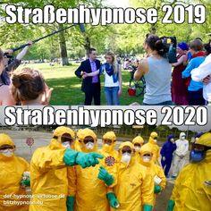 Straßenhypnose 2019 und Straßenhypnose 2020 in Zeiten des Corona Virus, eine Hypnose Meme. Die aktuelle Situation ist beängstigend u hoffen wir, dass es nicht so weit kommt, wie auf dem Foto. Hoffentlich ist Blitzhypnose bald wieder bedenkenlos möglich, ohne sich Gedanken über die Pandemie zu machen. Bitte passt auf Euch auf, bleibt zuhause, haltet den Abstand ein, schützt alte Menschen #straßenhypnose #strassenhypnose #blitzhypnose #alexanderseel #hypnose #corona #coronavirus #satire #memes Coaching, Humor, Satire, Memes, Crowns, Mental Health Therapy, Funny Memes, You're Welcome, Psychology