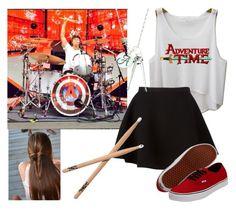 """Ashton teaches you how to drum"" by violetedison on Polyvore"
