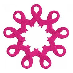 Breast Cancer Awareness Ribbons in the circle Filled Machine #Embroidery Design