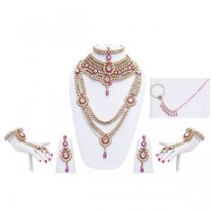 Custom Made Indian Dresses - Wedding Wear Online Bridal Jewelry Sets, Bridal Jewellery, Rose Corsage, Allure Bridal, Looking Stunning, Indian Jewelry, Magenta, Birthstones, How To Memorize Things