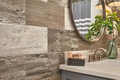 NEW - now you can put Alterna Engineered Stone flooring on your walls, for a creative and unique statement! Use it with grout or without, and in a variety of fantastic patterns!