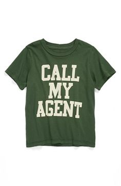 Peek 'Call My Agent' T-Shirt (Toddler Boys, Little Boys & Big Boys) | Nordstrom