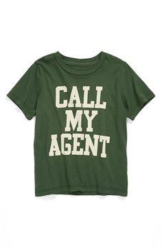 Peek 'Call My Agent' T-Shirt (Toddler Boys, Little Boys & Big Boys) | Nordstrom