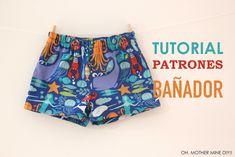DIY Bañadores para niños (patrones gratis)