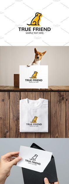 Dog Logo Design, Logo Design Template, Pet Branding, Club Design, True Friends, Text Color, Animal Shelter, Charity, Templates