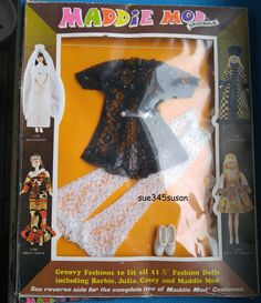Vintage Maddie Mod Outfit 4 Barbie Julia Stacey Maddie Mod Bcof Hong Kong | eBay