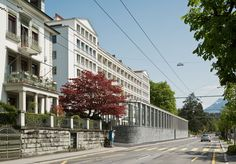 Apartmenthaus Tivoli Hans Kollhoff, Multi Story Building, Architecture, Indoor Courtyard, Projects, Lucerne, Arquitetura, Architecture Design