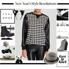 Polyvore / A fashion look from December 2014 featuring EVLEO sweatshirts, Dr. Martens ankle booties and Madden Girl ankle booties