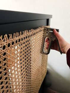 ikea cane headboard hack # DIY Home Decor frames This IKEA Hemnes Bed Hack Takes Just 10 Minutes Ikea Furniture, Furniture Makeover, Painting Laminate Furniture, Cane Furniture, Bedroom Furniture, Cheap Home Decor, Diy Home Decor, Decor Crafts, Hemnes Bed