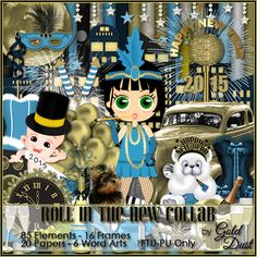 """Gold Dust: Freebie Kit """"Roll in the New"""""""
