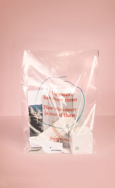 Stationery packaging transparent bag with printed lettering Web Design, The Design Files, Book Design, Nail Design, Quote Design, Packaging Design Inspiration, Graphic Design Inspiration, Brand Inspiration, Packaging Box