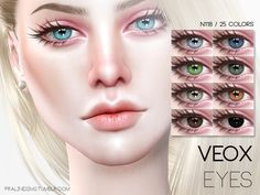 Eyes in 25 colors  Found in TSR Category 'Sims 4 Eye Colors'