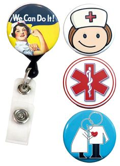 Amazon.com : Buttonsmith® Nurse Tinker Reel Deluxe Retractable Badge Reel With Belt Clip and Extra-Long 36 inch Standard Duty Cord - Made in the USA, 1 Year Warranty : Office Products