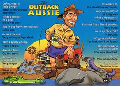 Aussie lingo/language, not just in the outback.all over Aussie, mate. Australian Quotes, Australian Slang, Australian English, Australian Party, Australian Accent, Australian Icons, Brisbane, Perth, Sydney