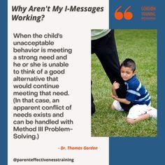 #imessages #communication #gordonmodel #gordontraining Training Programs, Problem Solving, Best Quotes, Behavior, Communication, Parenting, Messages, Children, Fun
