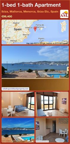 1-bed 1-bath Apartment in Ibiza, Mallorca, Menorca, Ibiza Etc, Spain ►€99,400 #PropertyForSaleInSpain