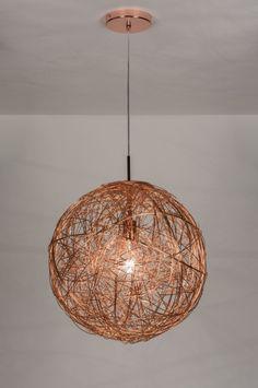 hanglamp 72080: modern, aluminium, rond