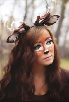 deer makeup #halloween
