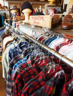 Vintage Pendleton Shirts... With a white tee shirt it was THE high school look