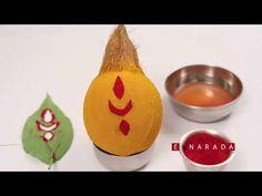 Hindus worship Kalasha (a pot filled with water and a c. Kalash Decoration, Mandir Decoration, Thali Decoration Ideas, Tent Decorations, Diwali Decorations, Festival Decorations, Flower Decorations, Coconut Decoration, Wedding Symbols