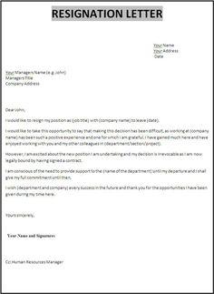 resignation letter sample australia sample letter of resignation