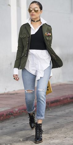 Street style: Olivia Culpo, 24, stepped out in LA in a stylish outfit comprised of chic designer duds.