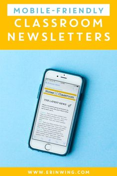 Mobile Friendly Classroom Newsletters: Teachers, these paperless newsletters will save you a ton of time! (Oh, and parents love them too! Newsletter Format, Class Newsletter, Classroom Newsletter Template, Newsletter Templates, Parents As Teachers, New Teachers, Teaching Kindergarten, Teaching Ideas, Teaching Reading