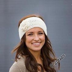 PDF PATTERN-Crochet Flower Headband / Earwarmer with button