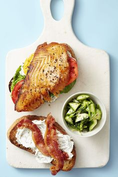 46 healthy lunch ideas - easy recipes for quick healthy lunches Blt Recipes, Healthy Sandwich Recipes, Healthy Sandwiches, Healthy Recipe Videos, Lunch Recipes, Seafood Recipes, Healthy Dinner Recipes, Seafood Meals, Healthy Dinners