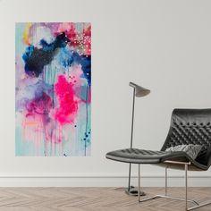 Abstract painting by Danish artist Mette Lindberg. www.mettelindbergart.com