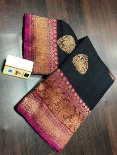 Banarasi Sarees, Kanchipuram Saree, Kurti, Raw Silk Saree, Indian Silk Sarees, Organza Saree, Red Saree Wedding, Bridal Silk Saree, Black Saree Designs
