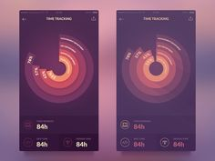 Experimenting with arm colors on this small time tracking app, check out the larger image: https://dribbble.com/shots/1926158-Data-Visualization/attachments/331336