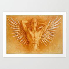 Art by the very talented Brighton based arftist Fran.       Angel Gabriel Art Print by Fran Duncan - $19.00