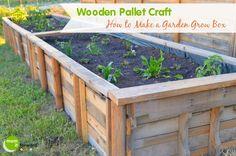 Wooden Pallet Craft: How to Make a Garden Grow Box http://momitforward.com/woodenpallet-craft-how-to-make-a-garden-grow-box