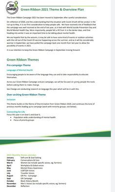 Green Ribbon, Reflection, Campaign, How To Plan